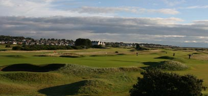 The Championship course at the Carnoustie Links