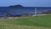 View across the 14th green at North Berwick West Links
